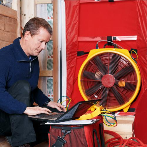 Blower Door-Test