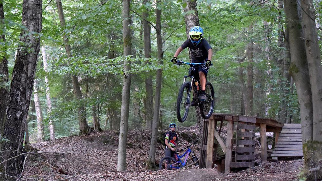 Mountainbike Training im Wald