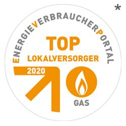 Siegel TOP Lokalversorger Gas 2020