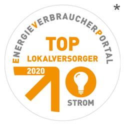 Siegel TOP Lokalversorger Strom 2020