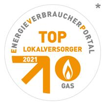 Top Lokalversorger Gas 2021